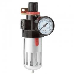 Separator vlage kompresora 1/4'' 3/8'' 1/2'' (manometar/filter) 0777/2 Fervi
