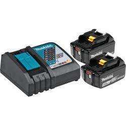 Set Baterija I Punjač Makita Li-ion 2x18v 5,0AH BL1850 + Punjač DC18RC Karton