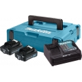 Set Baterija I Punjač Makita 2x12v 2,0ah + DC10SB + Makpac