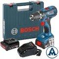 Bosch Aku Bušilica - Odvijač GSR 14,4-2-Li Plus Li-ion 2x14,4V 2,0Ah 59Nm + Kofer