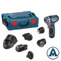 Bosch Bušilica-Odvijač Aku GSR12V-15FC + 4 Izmjenjive Glave