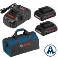 Bosch Set Baterija i Punjač Li-ion 2x18V 4,0Ah ProCORE + GAL 1880 CV + Torba