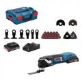 Bosch Aku Multimaster Višenamjenski Alat GOP 18V-28 2x18V 2,0Ah + Pribor 16/1 + L-Boxx