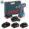 Bosch Aku Udarna Bušilica GSB 18-2-Li Plus Li-ion 4x18V 2x2,0 Ah 2x5,0Ah + 2 Punjača + Kofer