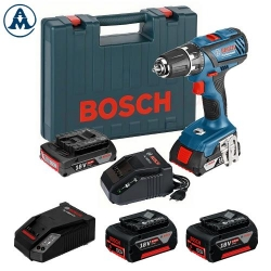 Bosch Aku Bušilica - Odvijač GSR 18-2-Li Plus Li-ion 4x18V 2x2,0 Ah 2x5,0Ah + 2 Punjača + Kofer