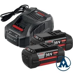 Bosch set baterija i punjač Li-ion 2x36V 6.0Ah + GAL 3680 CV + L-Boxx