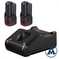 Set Baterija i Punjač Bosch Li-ion GBA 2x12V 2,0Ah + GAL 12V-40