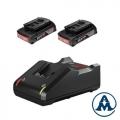 Set Baterija i Punjač Bosch Li-ion GBA 2x18V 2,0Ah + GAL 18V-40