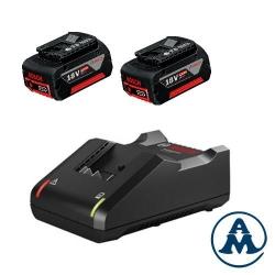 Bosch Punjač GAL 18V-40 + Baterije GBA 2x18V 4,0Ah