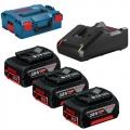 Bosch Set Baterija i Punjač Li-ion 3x18V 5.0Ah + GAL 18V-40CV + L-boxx