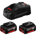 Bosch set baterija i punjač Li-ion 2x18V 6.0Ah + GAL 1880 CV