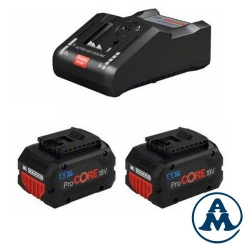 Bosch Set Baterija i Punjač Li-ion 2x ProCORE18V 8.0Ah + GAL 18V-160 C + Torba