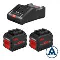 Bosch Set Baterija i Punjač Li-ion 2x ProCORE18V 12.0Ah + GAL 18V-160 C + Torba