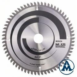 List Kružne Pile 230x30 x2,4/1,8mm 64Z HLTCG Multimaterial Bosch