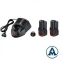 Bosch Set Baterija i Punjač Li-ion 2x12V 3,0Ah + GAL1230CV