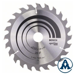 List Kružne Pile 200x30x24Z x2,8/1,8mm 15x15° ATB Optiline Bosch