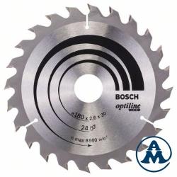 List Kružne Pile 180x30 /20x2,6mm 24Z ATB Optiline Bosch