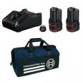 Bosch Set Baterija i Punjač Li-ion 2x12V 3,0Ah + GAL 12V-40 + Torba