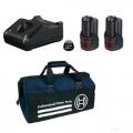 Bosch Set Baterija i Punjač Li-ion 2x12V 1x2,0Ah 1x4,0Ah + GAL 12V-40 + Torba
