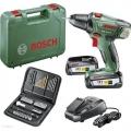 Bosch Aku Bušilica - Odvijač PSR 18 Li -2 Li-ion 2x18V 2,5Ah + Pribor
