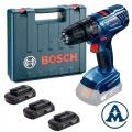 Bosch Aku Bušilica - Odvijač GSB 1800 LI Li-ion 3x18V 1,5Ah 54Nm
