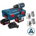 Bosch Aku Bušilica - Odvijač GSR 18V-EC Li-ion 2x18V 4,0Ah 60Nm + Pribor + L-boxx