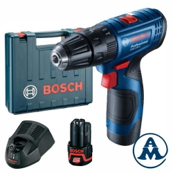 Bosch Aku Udarna Bušilica GSB 120-LI Li-ion 2x12V 2,0Ah 30Nm 10mm + Kofer