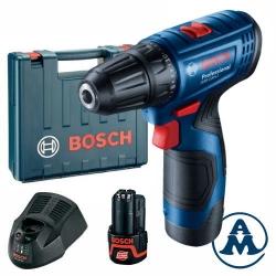 Bosch Aku Bušilica GSR 120-LI Li-ion 2x12V 2,0Ah 30Nm 10mm + Kofer
