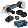 Bosch Aku Kutna Brusilica GWX 18V-10 SC Li-ion 2x18V 8,0Ah 125mm X-Lock + GCY 30-4 + L-boxx
