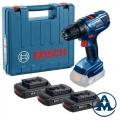 Bosch Aku Bušilica - Odvijač GSR 1800 LI Li-ion 3x18V 1,5Ah 54Nm