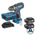 Bosch Aku Bušilica-Odvijač GSR 18-2-LI Plus Li-ion 2x18V 4,0Ah 63Nm + L-boxx