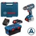 Bosch Aku Bušilica - Odvijač GSR 18-2-LI Plus Li-ion 2x18V 2,0Ah 63Nm 13mm + Toolbox