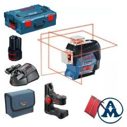 Bosch Nivelir Laserski Križni GLL 3-80 C Li-ion 1x12V 2,0Ah + BM1 + CP + TB + L-boxx