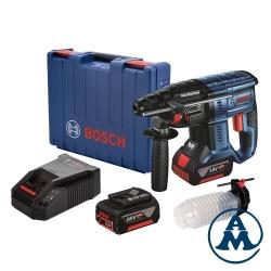 Aku Bušaći Čekić Bosch GBH 180-LI Li-ion 2x18V 4,0Ah 1,7J SDS-Plus + Adapter za usisavanje + Kofer