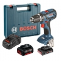 Bosch Aku Bušilica - Odvijač GSR 18-2-LI Plus Li-ion 18V 1x2,0Ah 1x5,0Ah 63Nm 13mm + Kofer