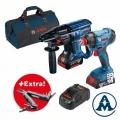 Set Bosch GBH 180-Li + GDX 180-Li Li-ion 2x18V 4,0Ah + Torba + Swiss