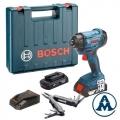 Bosch Aku Udarni Odvijač GDR 180-LI Li-ion 2x18V 3,0Ah 160Nm + Swiss Peak