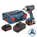 Bosch Aku Udarni Odvijač GDS 18V-EC 250 Li-ion 2x18V 5,0Ah 250Nm + L-boxx