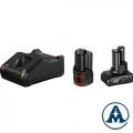Bosch Set Baterija i Punjač Li-ion 1xGBA 12V 2.0 Ah, 1xGBA 12V 4.0 Ah + GAL 12V-40