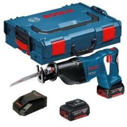 Bosch Aku Recipro Sabljasta Pila - Lisičji Rep GSA 18 V-Li Li-oin 2x18V 5,0Ah + L-boxx