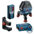 Nivelir Laserski Križni GLL3-50 Bosch + Držač BM1 + Prijemnik LR2 + L-Boxx