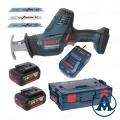 Bosch Aku Recipro Sabljasta Pila - Lisičji Rep GSA 18 V-Li C Li-ion 2x18V 5,0Ah + L-Boxx