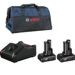 Bosch Set Baterija i Punjač Li-ion 2x12V 6.0 Ah + GAL 12V-40 + Torba