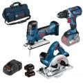 Bosch Aku Set GSR18V-60C + GKS18V-li + GST18V-Li-S | 2x18V 5,0Ah + Torba