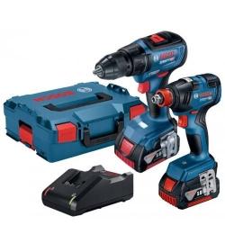 Bosch Set Aku GDX 18V-200 + GSR 18V-50 Li-ion 2x18V 4,0Ah + L-Boxx