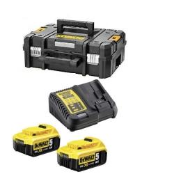 DeWalt Set Baterija i Punjač DCB115 Li-ion 2x18V 5,0Ah + Kofer