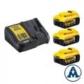 DeWalt Set Baterija i Punjač Li-ion 3x18v 5,0Ah