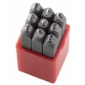 Brojevi za označavanje udarcem Fervi P012/N04 1-9 4mm 7x7x61h mm