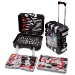 Kutija-kofer sa setom ručnih alata 150-dijelna pokretna Fervi 0165