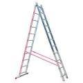 Ljestve Aluminijske Prislone Dvodjelne gazište 2x10 Alpos 47-10